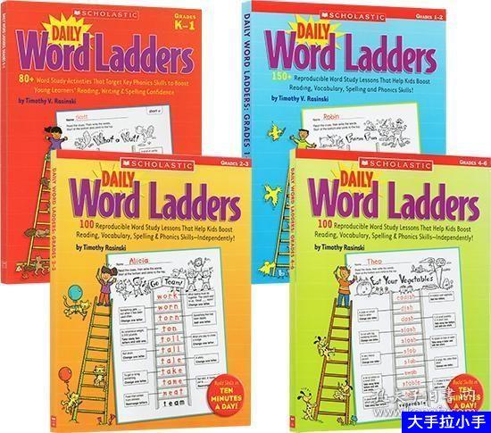 scholastic 的英语学单词系列 Scholastic daily world ladders 练习全套1-6